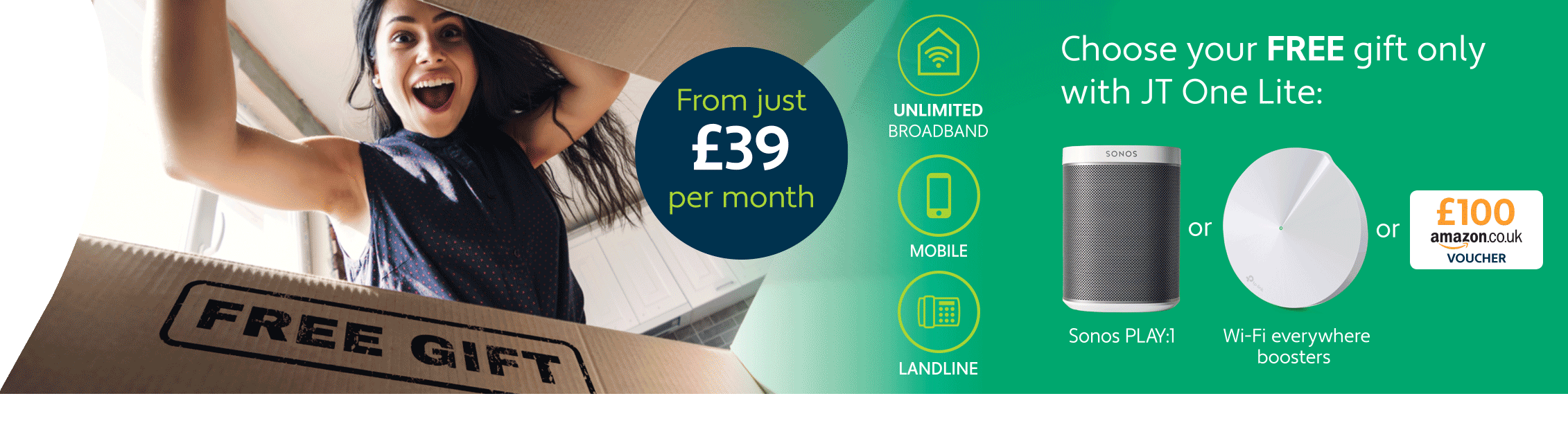 JT One Lite with Unlimited Broadband